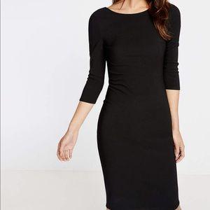 Express Black ribbed sheath dress
